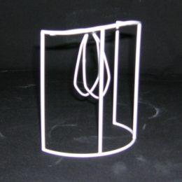 Carcasse abat-jour Ecran Galbé Haut avec pince flamme pour habillage tissu