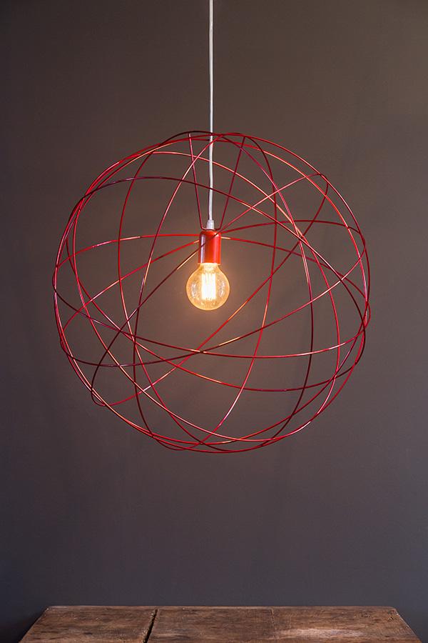 Atome Grand-Simple-Rouge en carcasse abat-jour
