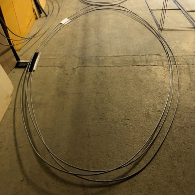 Les premiers éléments pour la fabrication des ovales